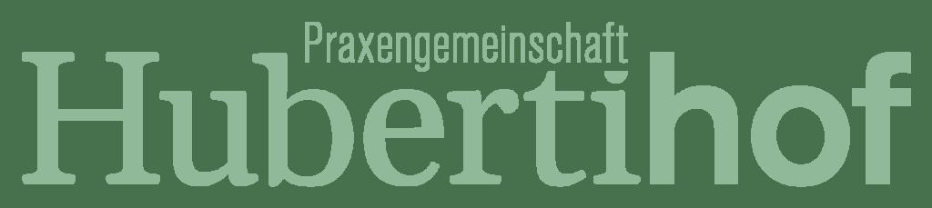Praxengemeinschaft-Hubertihof-Logo-Wortmarke